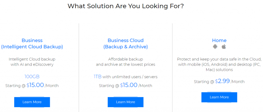 Zoolz-Cloud-Backup- Pricing